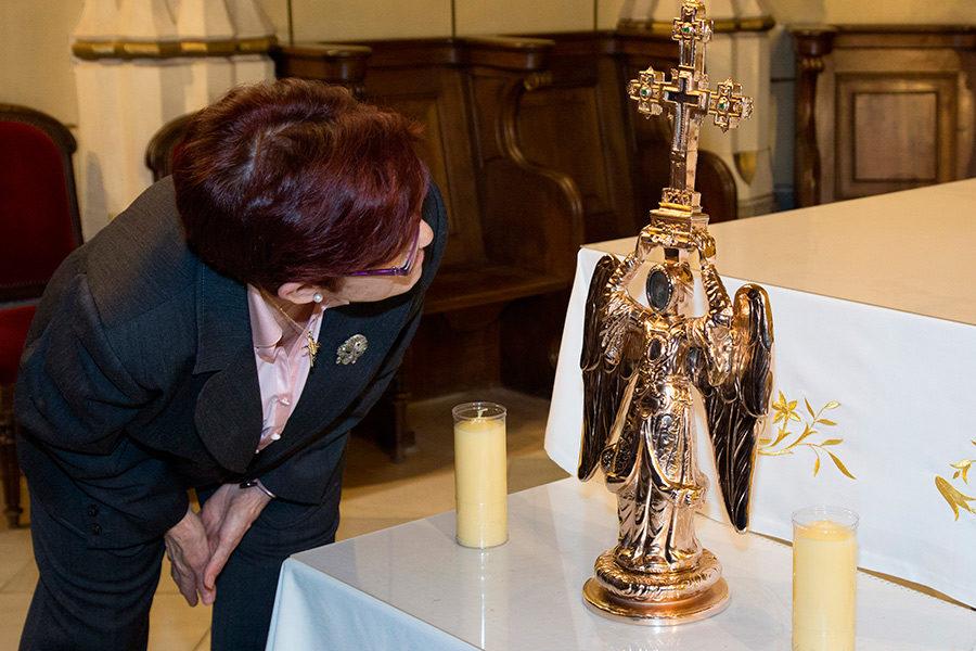 Histórica visita a Madrid del Ángel de Aralar y del  Arzobispo de Pamplona